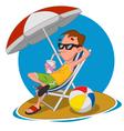 man on a beach vector image vector image