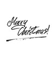 merry christmas hw lettering vector image vector image