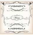 ornamental swirls vector image vector image