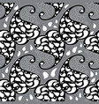 paisleys seamless pattern grey repeating floral vector image vector image