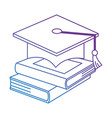 pile text books with hat graduation vector image vector image
