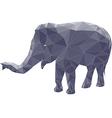 poligonal elephant 2 vector image