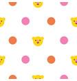 polka dot seamless pattern with bright circles vector image vector image