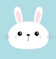 rabbit bunny head face round icon cute cartoon vector image vector image