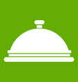 restaurant cloche icon green vector image vector image