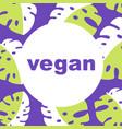 round eco bio logo or sign raw healthy vector image vector image