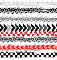 seamless tire tracks pattern vector image vector image