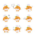 set cute onion chef cartoon characters vector image vector image