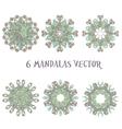 Set mandalas Round Ornament Pattern Vintage vector image