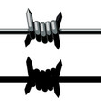 sharp barbed wire vector image vector image