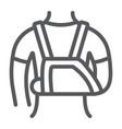 shoulder immobilzer line icon medical vector image vector image