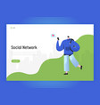 social network landing page template man character vector image vector image