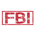 stamp text fbi vector image