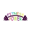 Stock fitness power logo vector image