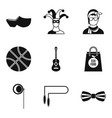 street sport icons set simple style vector image vector image