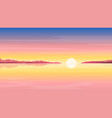 sunrise at sea nature background vector image