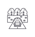travelling by car line icon concept travelling by vector image vector image