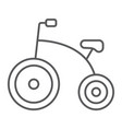 tricycle thin line icon bicycle and child vector image