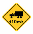 truck maximum length traffic sign vector image vector image