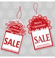 Two Christmas Sale Tags vector image