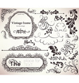 Vintage Calligraphic Set vector image vector image