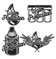 vintage water purification emblems vector image vector image