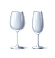 wineglass champagne glass white mock up vector image