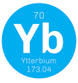 Ytterbium chemical element vector image vector image