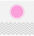 zigzag and pink sun vector image vector image