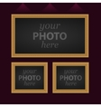 Set of 3 photo frames vector image
