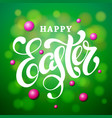 happy easter lettering card modern calligraphy vector image