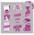 pink labels for women shop vector image