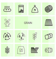 14 grain icons vector image vector image