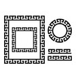 ancient greek frame and border - key pattern vector image vector image