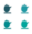 assembly realistic sticker design on paper kettle vector image vector image