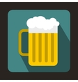 Beer mug icon in flat style vector image vector image