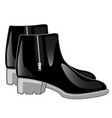 black boots with clasp vector image vector image