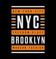 brooklyn retro print vector image