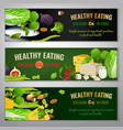 calcium in food banners vector image