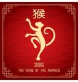 Chinese new year 2016 of monkey vector image vector image