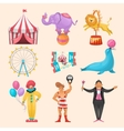 Circus Character Elements Set vector image