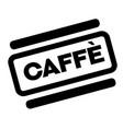 coffee black stamp vector image