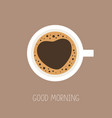 coffee cup top view good morning love coffee vector image