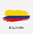 colombia watercolor national country flag icon vector image