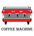 color of the coffee machine vector image