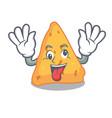 crazy nachos mascot cartoon style vector image vector image