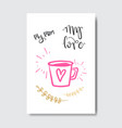cute mothers day greeting card with hand drawn vector image