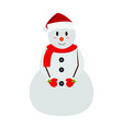 cute snowman character vector image