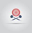darts isolated icon with two crossed arrows vector image vector image