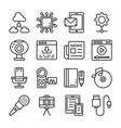data communication icons vector image vector image
